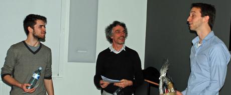 Dries Nicolaes en Ivo Van de Moortel samen met Stein Helsen
